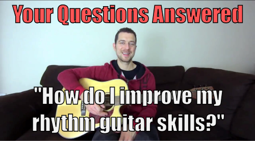 improve rhythm skills on the guitar